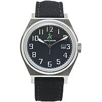 [アンペルマン]AMPELMANN 日本製 腕時計 ユニセックス クオーツ ラウンドフェイス ネイビー ASC-4979-04