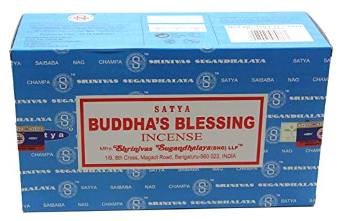 シプリー囲まれた蚊Satyaバンガロール(BNG) Buddha 's Blessings Incense Sticks 12ボックスX合計15 g180グラム