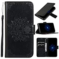 WVYMX Wallet ケース for Google Pixel 3, PU Leather Flip Wallet ケース [Magnetic Closure] [Card Slots Cash Holder] Kickstand Stand Protective Cover for Google Pixel 3 Black