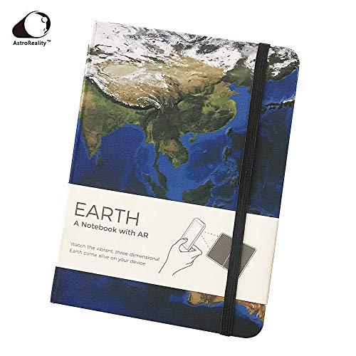 【全米で大人気】AR 拡張現実 手帳 Earth 地球探検 3D地形 知育 2019年 手帳 日記帳 スケジュール帳 メモ帳 雑記帳 プレゼント ギフト AR Notebook クラシックノートブック