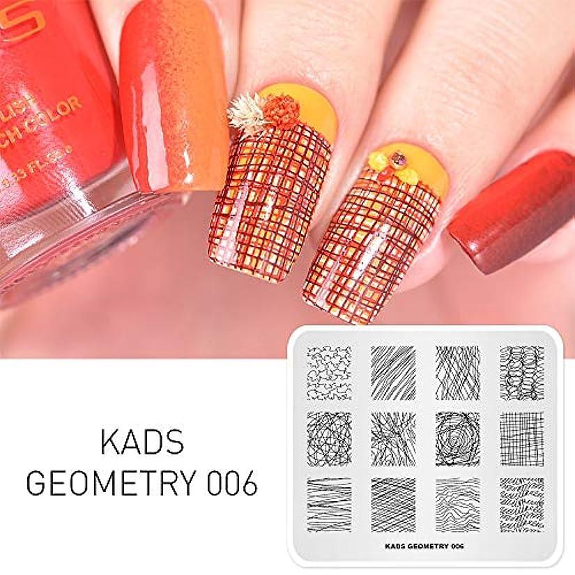 神経乳結婚したKADS ネイルスタンププレート 不規則図案 ネイルステンシル ネイルアート道具 (GE006)