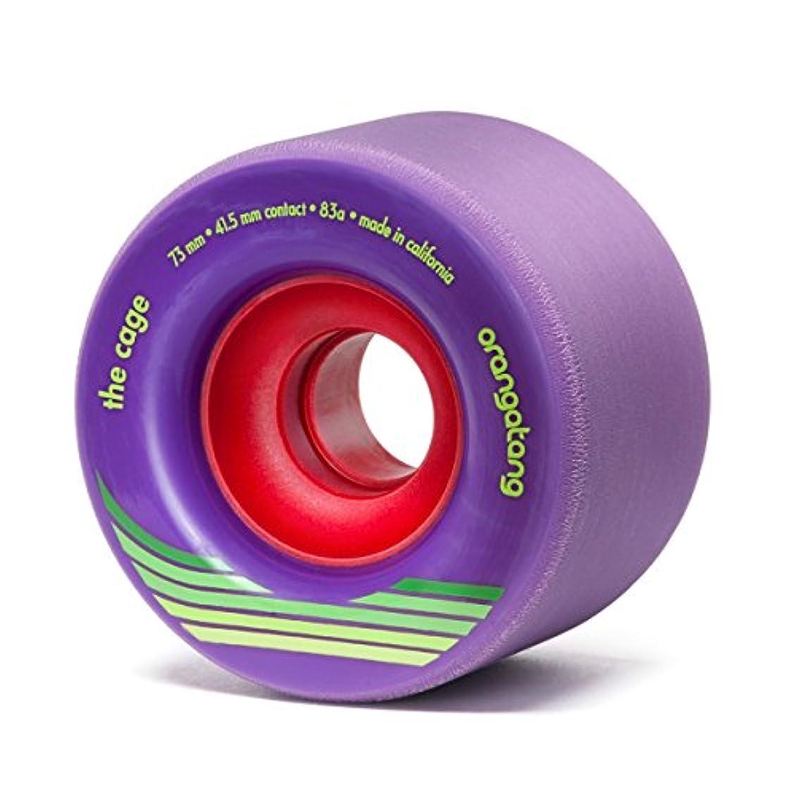 旋回追う伝染性Orangatang Cage 73mm 83a Purple Longboard Wheels Set of 4 With Bearings by Orangatang