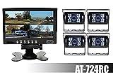 Best デュアルエレクトロニクスPAシステム - AUDIOTEK AT-724RC 7インチ TFT LCDモニターとリアビューバックアップ- 4色のカメラ付き防水、夜間視認機能付き。RV/ ビッグセミトラック/ BUS用。 Review