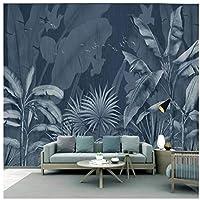 Wkxzz カスタム熱帯植物の森のリビングルームの寝室の背景壁紙壁画-250X175Cm