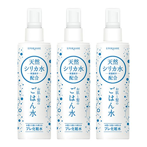 EPORASHE お肌と髪のごはん水(天然シリカ水)(3本セット)