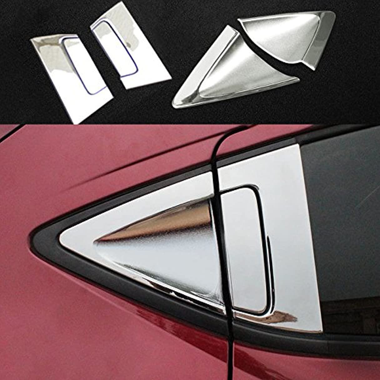 フクロウ用心深い辞書Jicorzo - ABSクローム車のリアのドアホンダHRV HRV 2014-2018カーエクステリアアクセサリースタイリングのためにボウルカバートリムガーニッシュハンドル