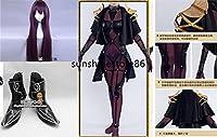 豪華修正版 コスプレ衣装 Fate/Grand Order グランドオーダー スカサハ 風 衣装+wig+靴 全セット
