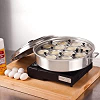 Royal Industries Aluminum 12 Cup Egg Poacher with Lid 14 1/8 x 2 1/2 by Royal Industries