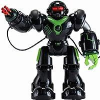 充電インテリジェントリモコン電気ロボットのおもちゃミサイルの歌とダンスの子供のおもちゃを起動 ( Color : 黒 )