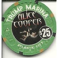 $ 25 Trump Marina Alice Cooper Super Rare Atlantic Cityカジノチップ