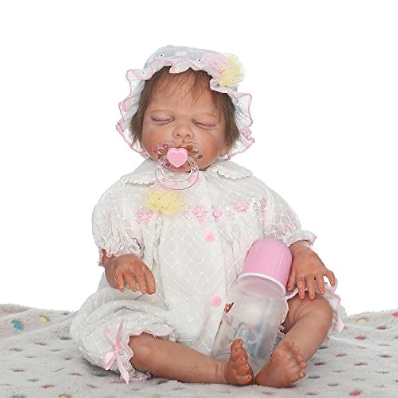 Ncol Rebornベビー人形Lifelike、リアルな幼児新生児赤ちゃん人形、20インチ50 cm Weighted (コットンボディ、Sleeping Girl、for Age 3 +