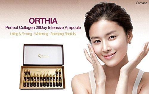 Coreana Orthia Perfect Collagen 28 Days Intensive Ampoule (2ml × 28ea)/コリアナ オルティア パーフェクト コラーゲン 28デイズ インテンシブ アンプル (2ml × 28個)
