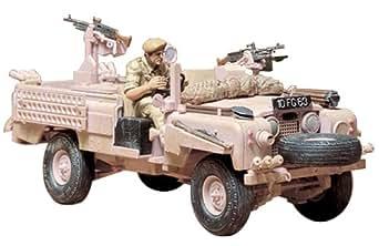 タミヤ 1/35 ミリタリーミニチュアシリーズ No.76 イギリス陸軍 S.A.Sランドローバー ピンクパンサー プラモデル 35076
