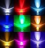 [ケンコバハンズ] 眩輝 LED 5mm 100個 セット 選べる6色! 砲弾 ラウンド 型 電球 20000 mcd 赤 黄 青 緑 ピンク 白 発光 ダイオード led ライト (ピンク)