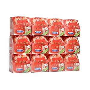 ストリックスデザイン 鮮度保持ポリ袋 半透明 Mサイズ 野菜 果物 新鮮に保つ SA-096 60枚入,96個セット