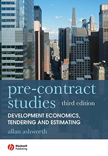 Download Pre-contract Studies: Development Economics, Tendering and Estimating, 3rd Edition 1405177004