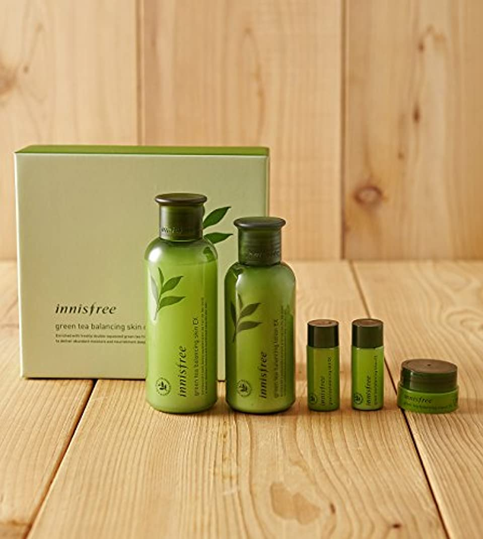 時折後ろに母音innisfree green tea balancing skin care set ex/イニスフリーグリーンティーバランシングスキンケアセットex