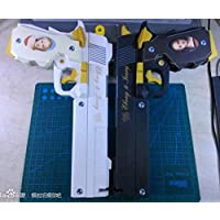 模型 ペーパークラフト 高級防水紙 デビルメイクライ拳銃 エボニー・アイボリー