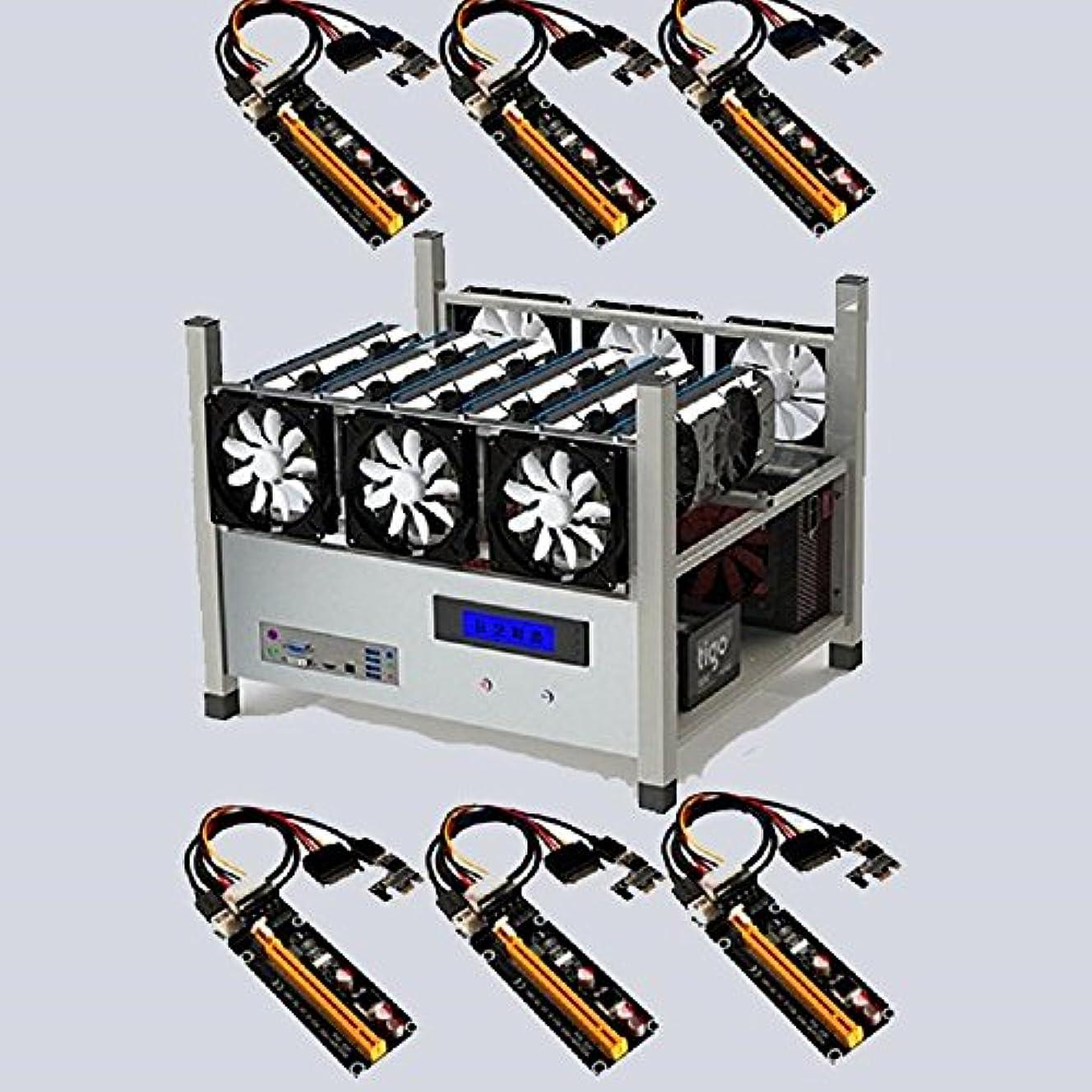 廃棄ファッションスリットbitcoinmerch. Com Crypto Miningフレームリグケース6 GPu ETH BTCイーサリアム+ 6 USB Raisers Package Deal (Crypto Miningフレームリグケース6 GPu ETH BTCイーサリアム+ 6 USB Raisers Package Deal)