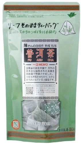 久順銘茶 陳さんのリーフ プーアル茶 ティーバッグ 2gX10