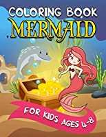 Mermaid Coloring Book for Kids Ages 4-8: Relaxing, Detailed Coloring Book for Girls