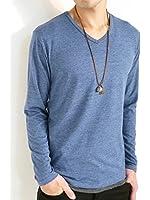 (オークランド) Oakland ツインロール カラーリング カットソー ストレッチ 長袖 ゆる オータム 着回し Tシャツ 秋 メンズ
