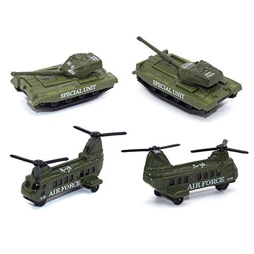 TheChoice 1/64 合金&プラスチック製 ミニカー ミリタリー戦闘車両 5台セット モデルカー 情景コレクション 自動車模型