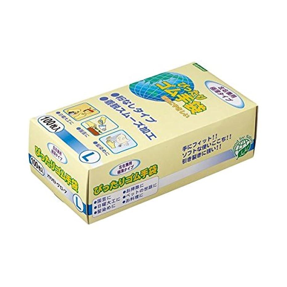 (まとめ) オカモト ぴったりゴム手袋(粉なし) Lサイズ NO310-L 1パック(100枚) 【×5セット】 ds-1577009