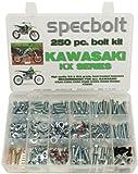 Specbolt Fasteners 250pc Maintenance Restoration OE Spec Motorcycle Bolt Kit for Kawasaki KX 2 Stroke MX Dirtbike KX60 KX65 KX80 KX85 KX100 KX125 KX250 KX500 60 65 80 85 100 125 250 500 [Airborne] [並行輸入品]
