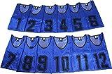 K sera sera ナンバー ビブス 6枚セット 12枚セット フットサル バスケ サッカー (ネイビー 12枚セット, フリー)