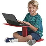ECR4Kids The Surf Portable Lap Desk/Laptop Stand/Writing Table, Red