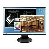 【Amazon.co.jp限定】EIZO 24.1型モニター(IPS/フレームレス/ブルーライト軽減/HDMI/ DisplayPort /5年間&無輝点保証/クリーナー付属) EV2456-RBKAZ