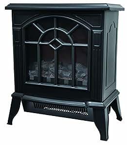 VERSOS 暖炉型ファンヒーター ブラック VS-HF2201BK