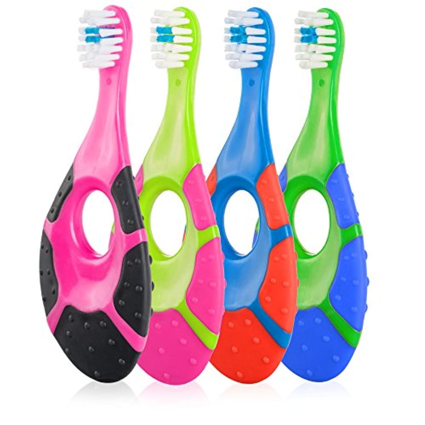 抽象もっとマーケティングFarberにベビー乳児幼児用歯ブラシ – BPAフリーソフト剛毛0 – 2歳用(4パック)