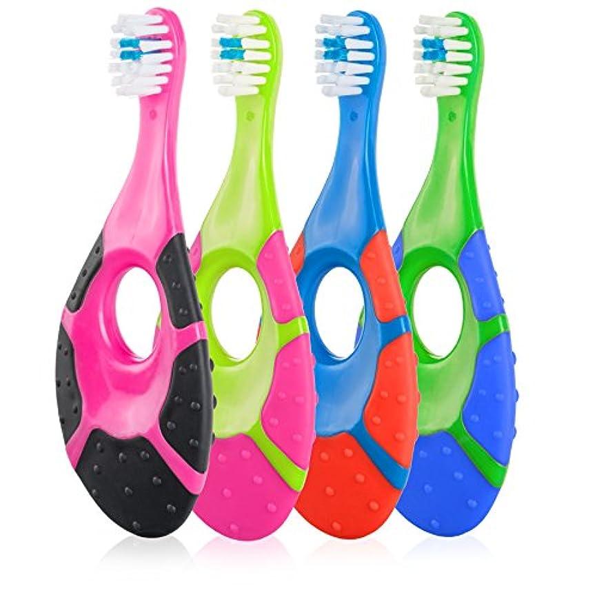 退却デモンストレーション添付Farberにベビー乳児幼児用歯ブラシ – BPAフリーソフト剛毛0 – 2歳用(4パック)