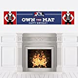 Own The Mat - Wrestling - Birthday Party Decorations Party Banner