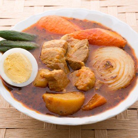札幌極みスープカレー とろとろ豚角煮 中辛 北海道 豚角煮スープカレー …
