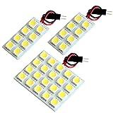 【断トツ108発!!】 JE1/2 ゼストスパーク LED ルームランプ 3点セット [H18.2~] ホンダ 基板タイプ 圧倒的な発光数 3chip SMD LED 仕様 室内灯 カー用品 HJO