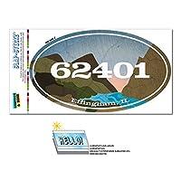 62401 エフィンハム, IL - 川岩 - 楕円形郵便番号ステッカー