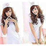 看護婦 ナース服・帽子 2点セット 白 コスチューム レディース