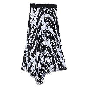 [ミラオーウェン] アシンメトリーヘムプリーツスカート 09WFS185017 レディース Mix 日本 1 (日本サイズ9 号相当)