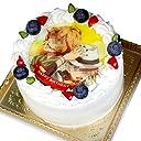 写真ケーキ 全面プリント シンプルタイプ 標準の白い生クリーム (4号(12cm)2~3人前)