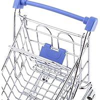 Dovewill ペン、タブ、カードや携帯電話などのようにかわいいと美しいミニショッピングカートトロリー玩具 青色
