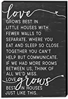 """Kindred Hearts 12""""x18"""" Love Grows Best in Little Houses Canvas Art [並行輸入品]"""