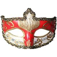 ハロウィン ベネチア 風 マスク 夜会 仮面舞踏会 仮面 仮装 マスク コスプレ イベント (レッド)