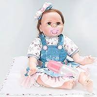 22インチ再生、シミュレーション、赤ちゃん、人形、おもちゃ、女の子、ソフトシリコーン、幼児、おもちゃ、誕生日プレゼント