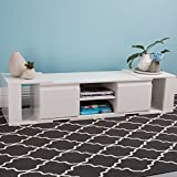TV Unit White Gloss Stand Entertainment Lowline Drawers Cabinet Media Console