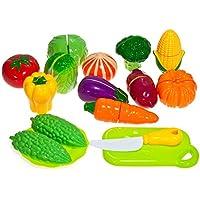 LycheeキッチンおもちゃFun Cutting野菜Play Set with Cutting Board Great早期教育基本スキル開発おもちゃ2 +年齢子供のクリスマスギフトIdea ( Cutting野菜セット)
