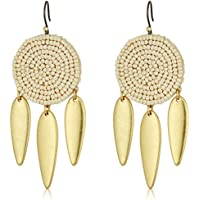 Lucky Brand Womens Seed Bead Statement Earrings, Gold, One-Size