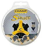 CHAMP(チャンプ) ゴルフシューズ靴鋲 スティンガー 3 (Q-LOK)(キューロック)18P S-88 黒/黄
